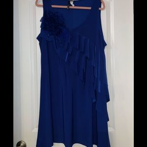 Sleeveless Electric Blue tunic style top